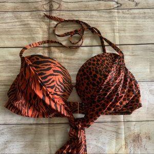 Victoria's Secret tie wrap halter bikini top 36D